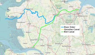 River Eider Map