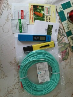 Some post. Some deliveries today. Chilli seeds, pH and EC meters, OM3 network cable.