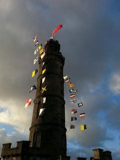 Calton Hill thinks it is a ship. https://en.wikipedia.org/wiki/Trafalgar_Day